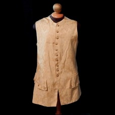 Waistcoat 1750s Style Gently Worn Gold Damask