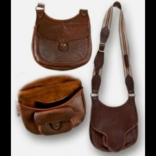 Bison Leather Beavertail Flap Bag