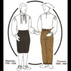Breeches 1760-1820 Drop Front  and Trousers TG Pattern